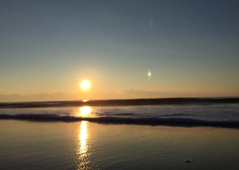 初日の出の写真 久里浜